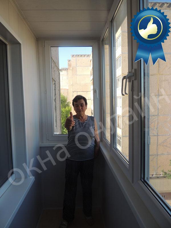 Обшивка балкона МДФ панелью 15.7