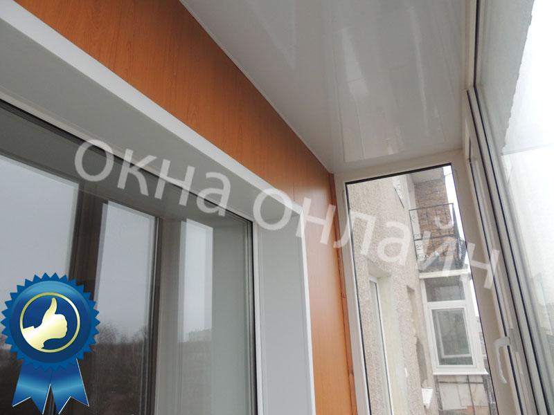 32.7 Обшивка балкона МДФ панелью