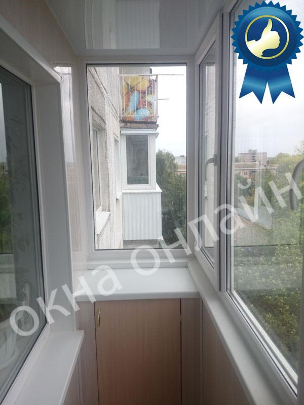 Обшивка балкона ПВХ панелью 17.10