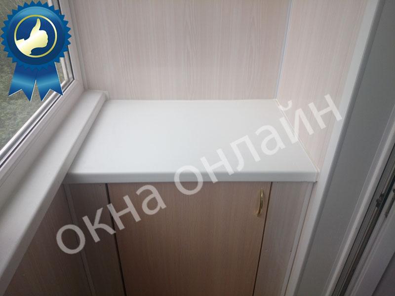 Обшивка балкона ПВХ панелью 17.9