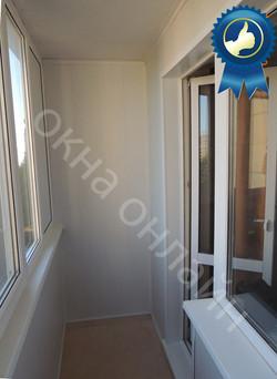Обшивка балкона МДФ панелью 15.1