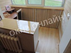 Обшивка балкона МДФ панелью 110.1