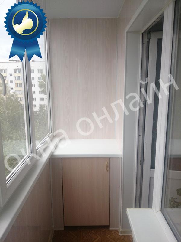 Обшивка балкона ПВХ панелью 17.5