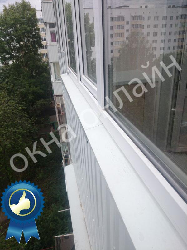 Обшивка балкона ПВХ панелью 17.3