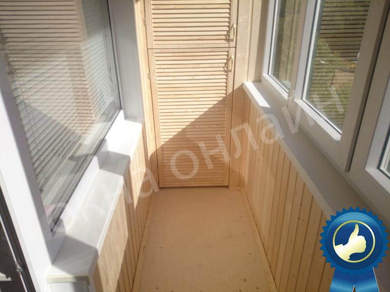 Обшивка балкона в уфе 13.7