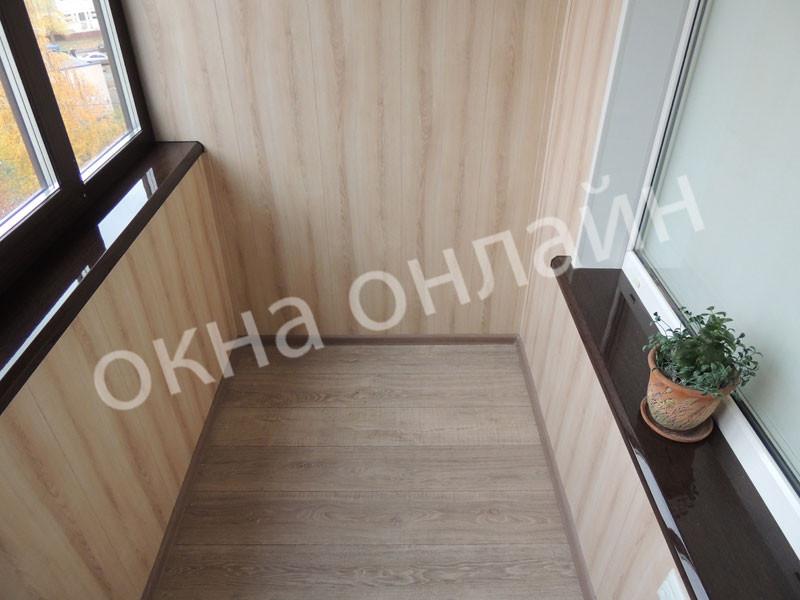 Обшивка балкона МДФ панелью 109.1.JPG