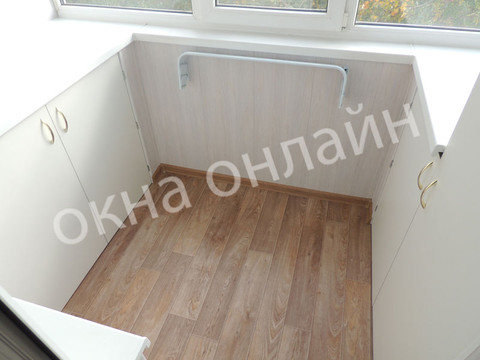 Обшивка балкона ПВХ панелью 107.1.JPG