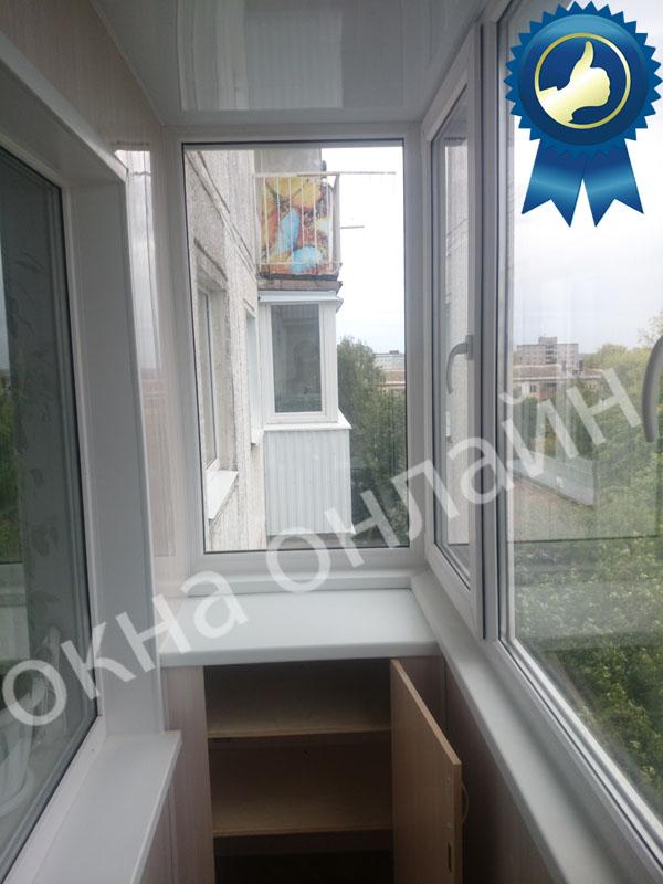 Обшивка балкона ПВХ панелью 17.12