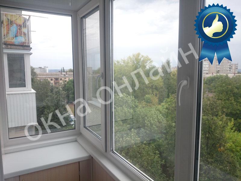 Обшивка балкона ПВХ панелью 17.1