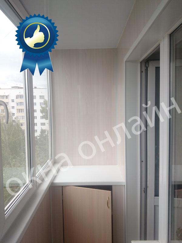 Обшивка балкона ПВХ панелью 17.6