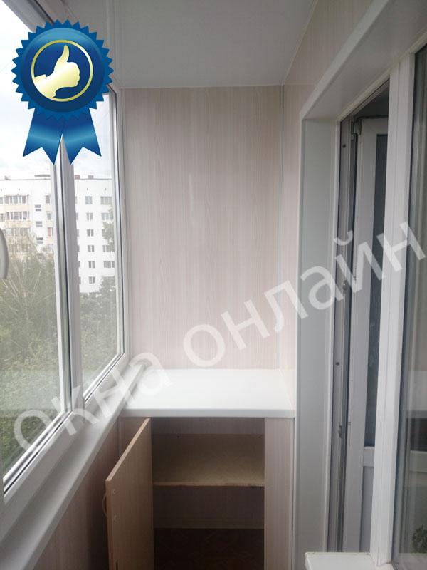 Обшивка балкона ПВХ панелью 17.7