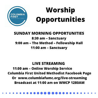 We are coming back to in-Person Worship!