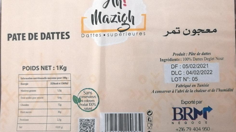 Pate de dattes 1kg Ah Mazigh