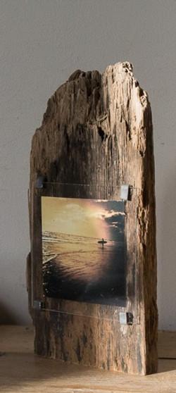 Sculptural Driftwood sunset surf
