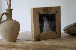 Wedding photo wood block