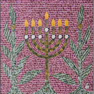 Menorah with Olive Trees