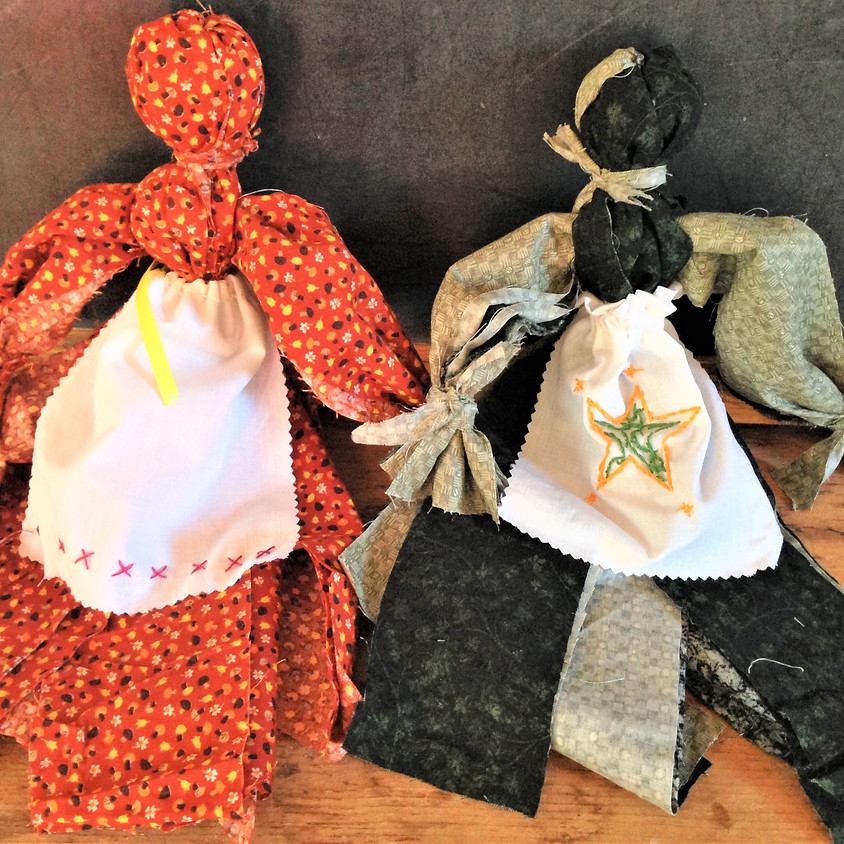 Rag Doll with Embroidered Apron/Cape Class
