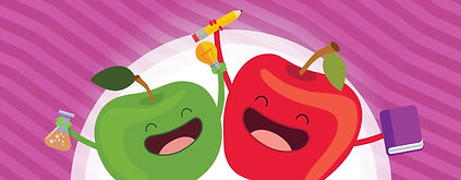 a-drawing-shows-two-cartoon-apples-holdi