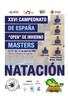 """XXVI CAMPEONATO DE ESPAÑA """"OPEN"""" DE INVIERNO MASTERS"""