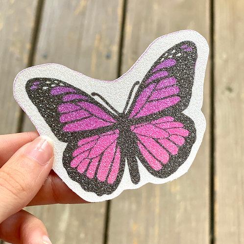 Pink Butterfly Glitter Sticker