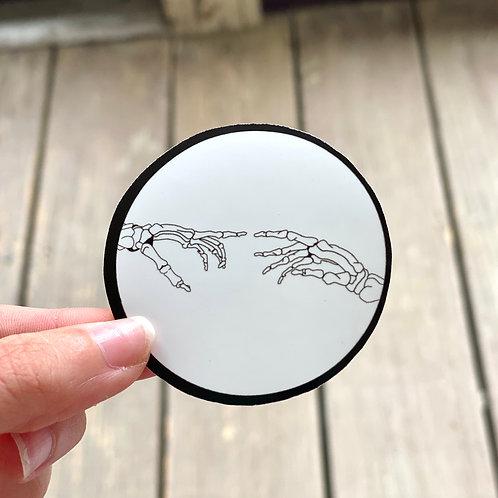 Skeleton Hands Sticker