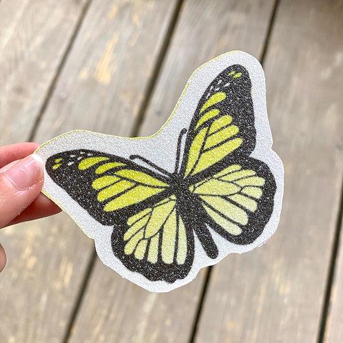 Yellow Butterfly Glitter Sticker
