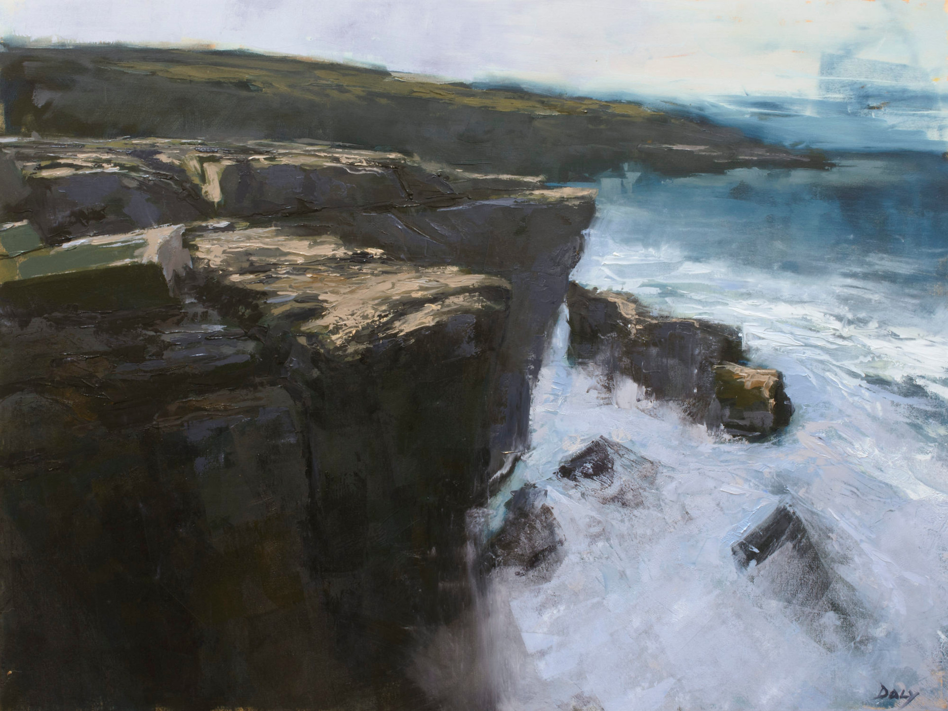 Precipice - 60x80cm oil/canvas 2020