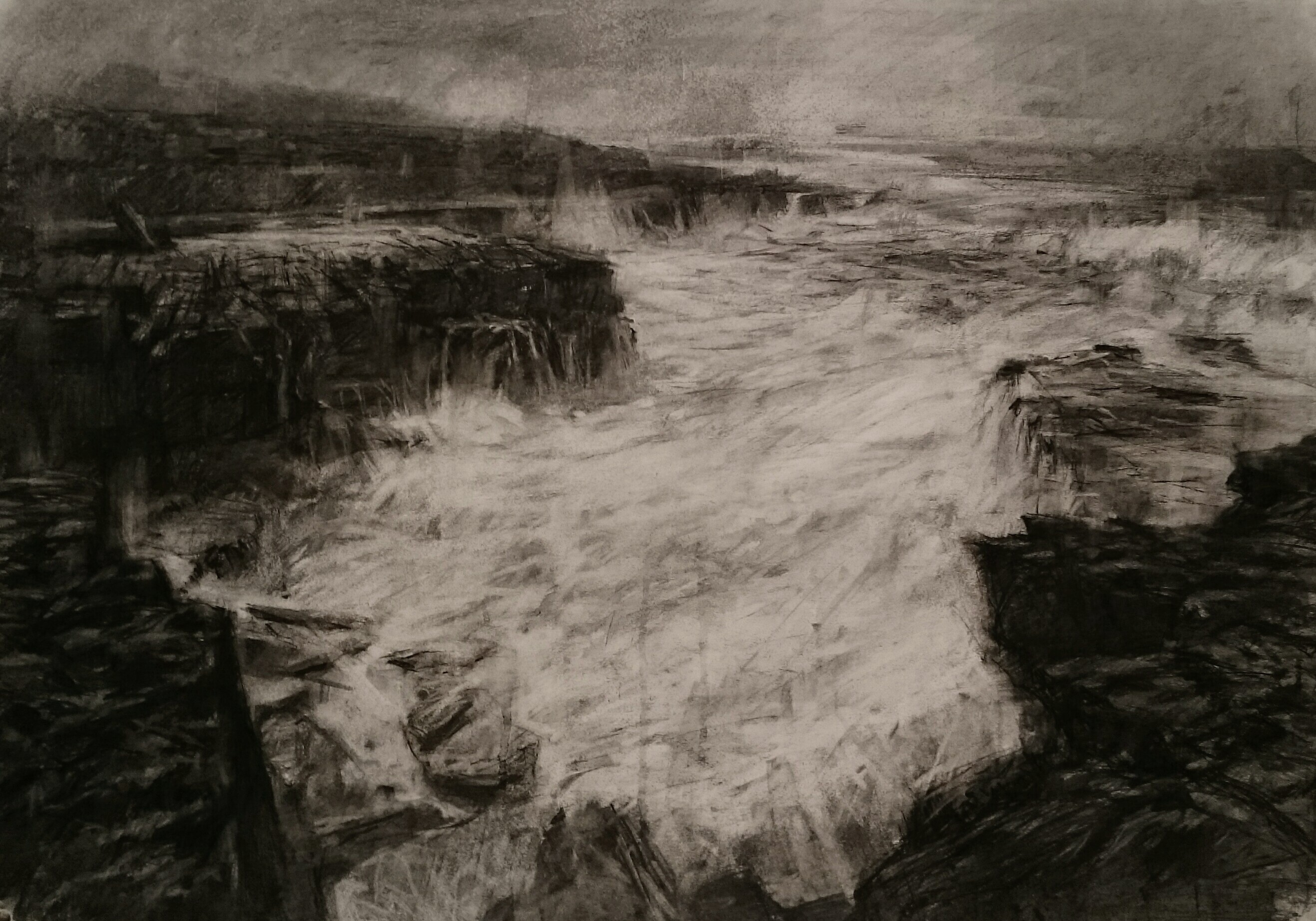 Action - 60x84cm - Charcoal on paper - 2017