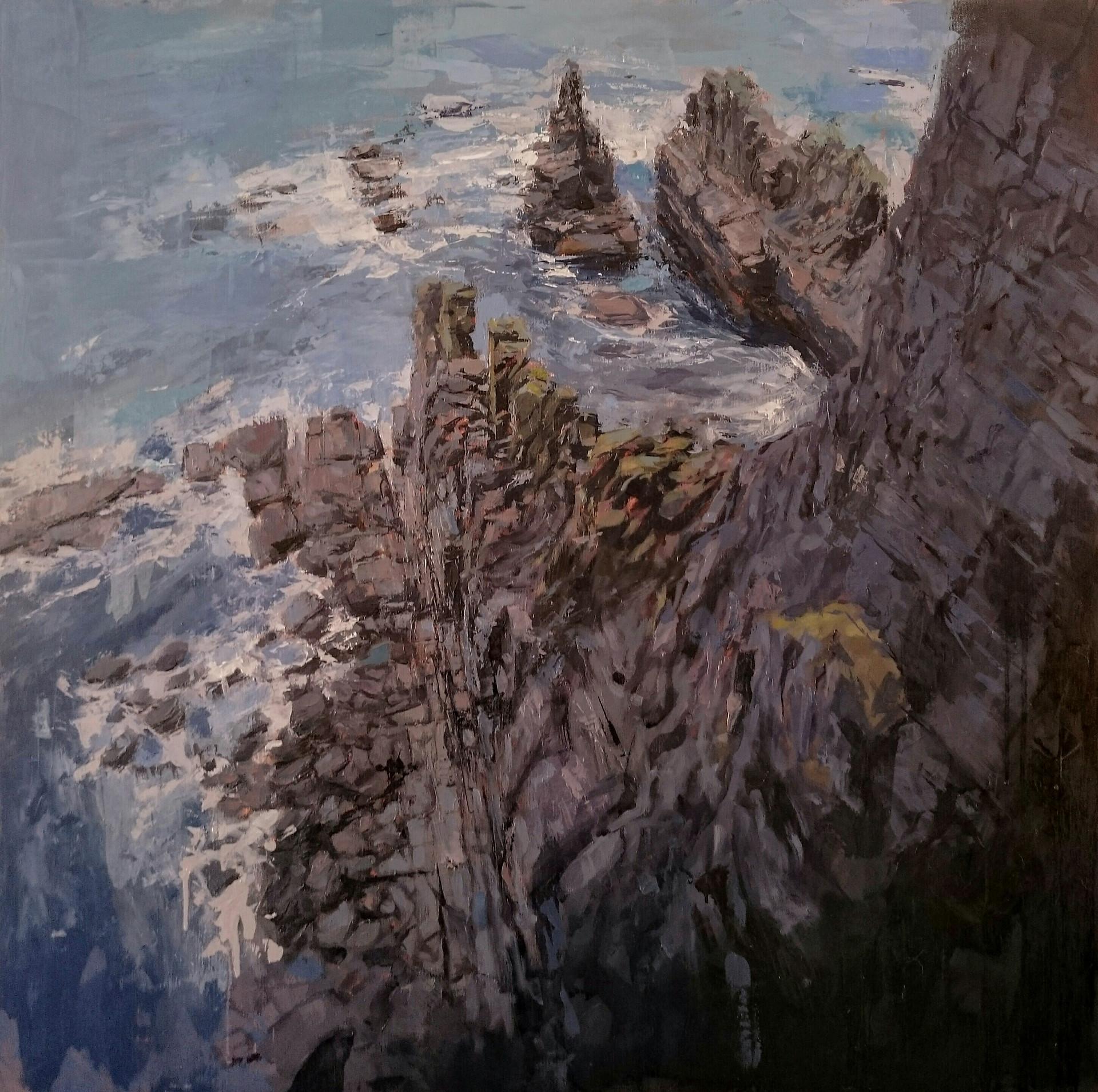Cliff - 80x80cm oil/canvas 2018 (PC)