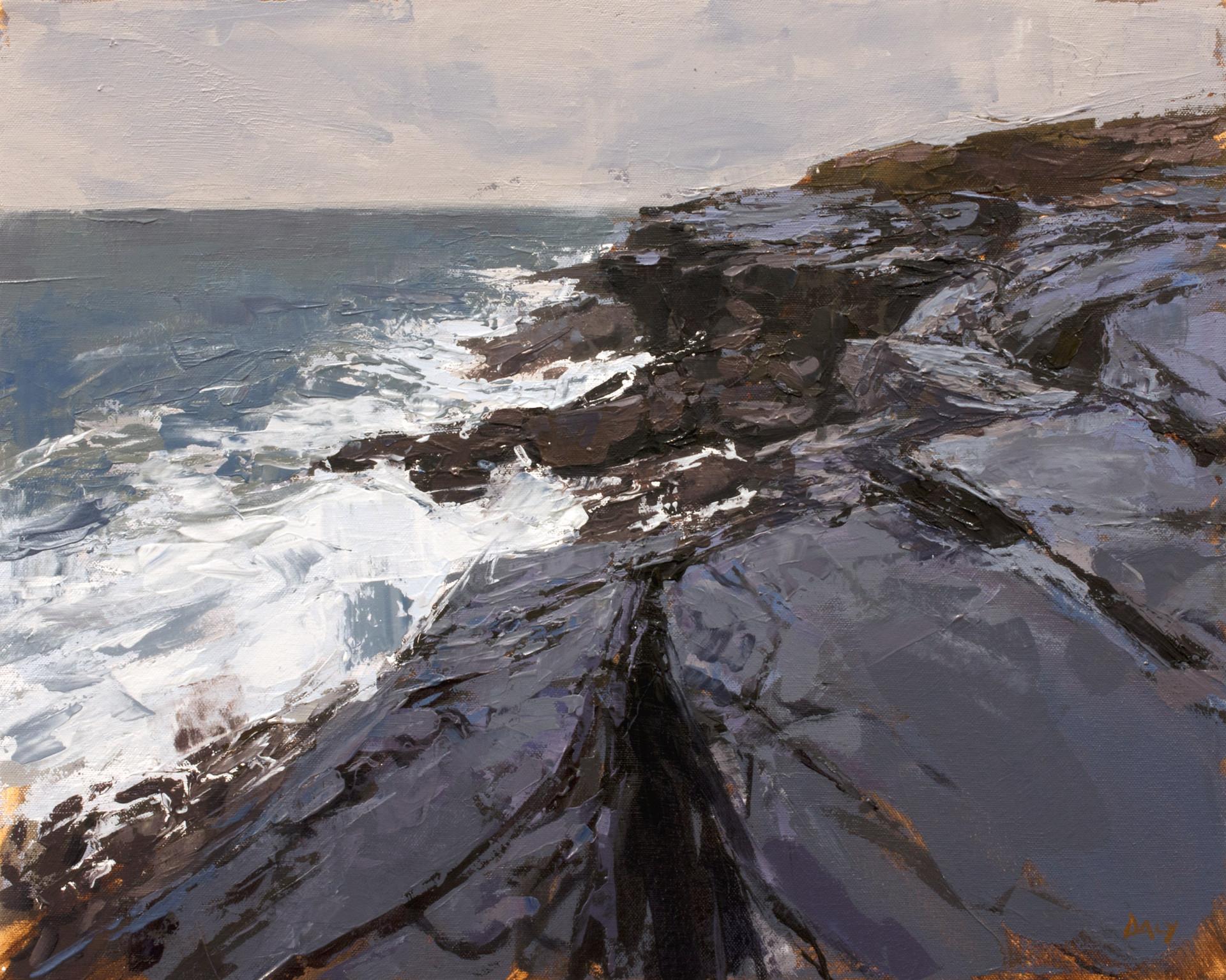 Blue rocks 40x50cm oil/canvas 2019