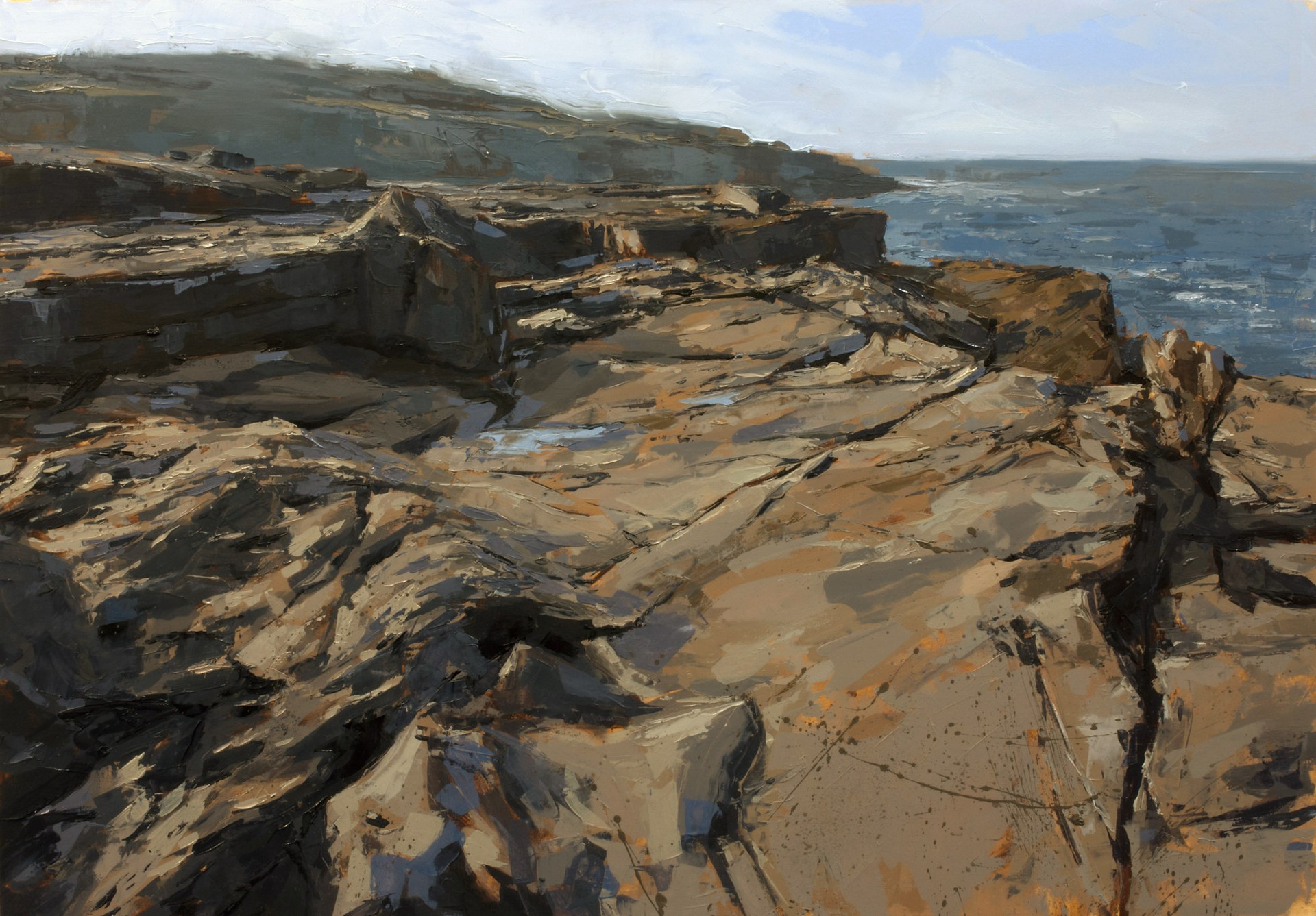 Cliff-top study - 70x100cm oil/canvas 2019 (PC)