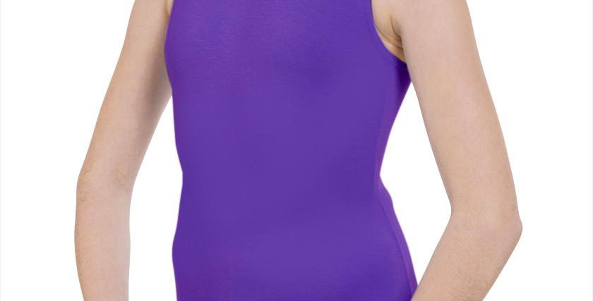 Tappers and Pointers Cot/1 Plain Fronted Leotard  Style Code Cot/1 Purple