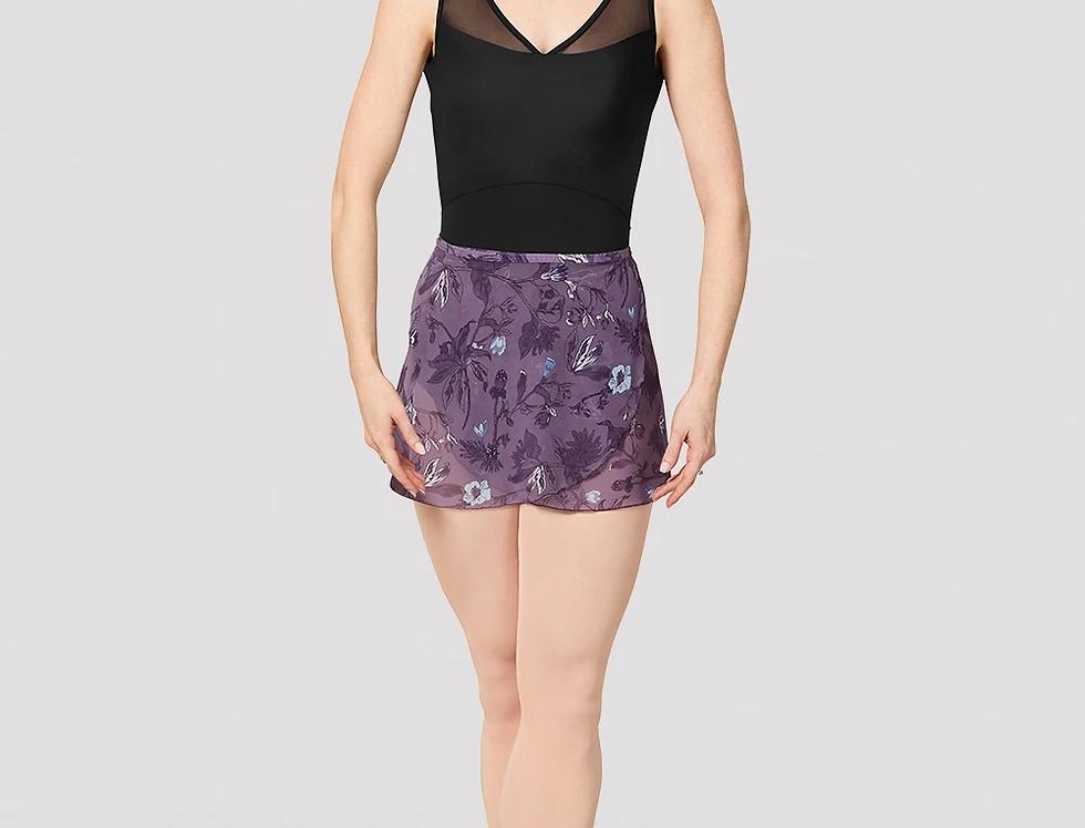 Mirella Ladies Jasmine Print Mesh Wrap Skirt Style Code MS157 Purple