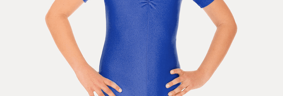 Tappers and Pointers Short Sleeve Leotard  Style Code Leo/5 Royal Blue