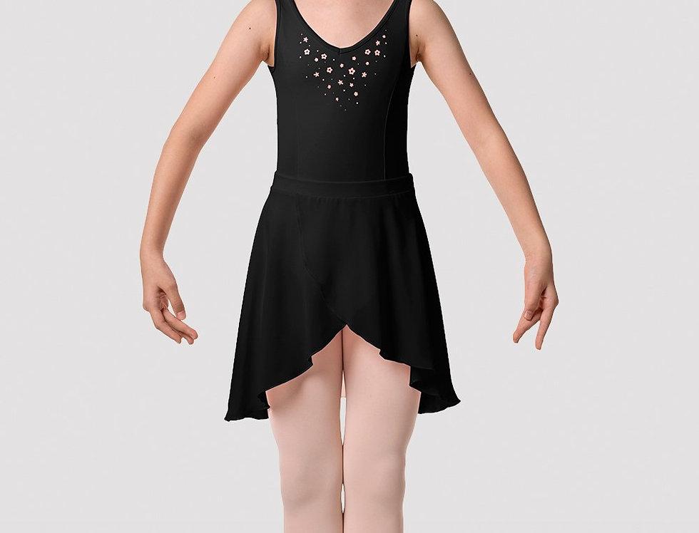 Mirella  Girls Flower Burst Hi-Lo Fixed Wrap Skirt Style Code MS144C