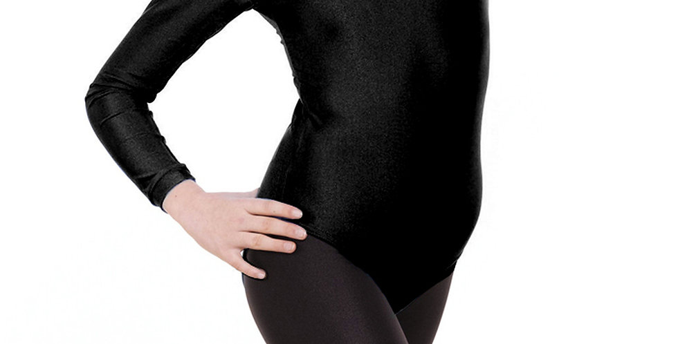 Tappers and Pointers Long Sleeved Plain Front Leotard Style Code Leo/3