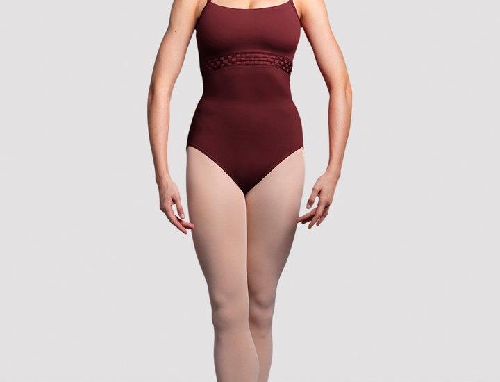 Bloch Girls Miro Mesh Back Camisole Leotard Style Code TWL3597 Burgundy