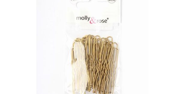 Inca Hair Accessories Blonde Waved Hair Pins (45mm)  Style Code HD843