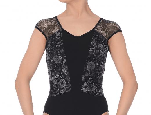 Bloch Adults Meike Floral Cap Sleeve Leotard Style Code L9882
