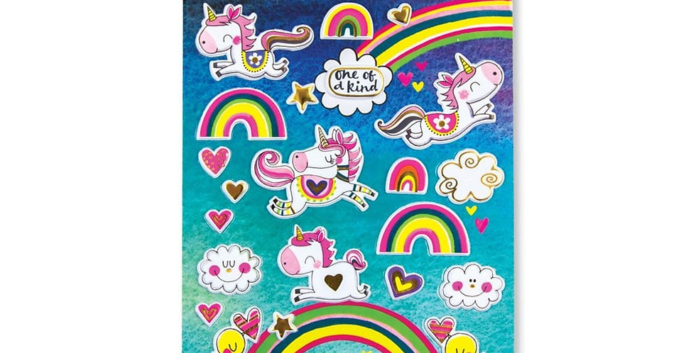 Rachel Ellen Unicorn Puffy Stickers Style Code PUFFSTIC4