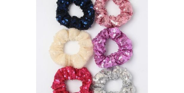 Inca Hair Accessories Small Sequin Scrunchie Style Code 7580