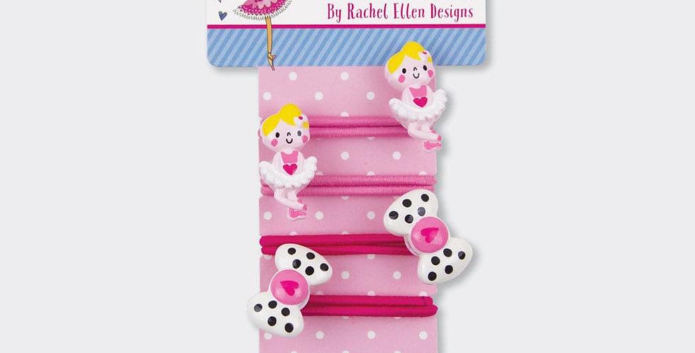 Rachel Ellen Hair Bobbles Ballerina & Bow Style Code BOB5