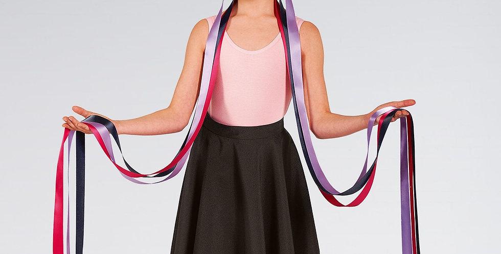 IDS Floral Long Ribbon Headdress Dark Style Code UA577B
