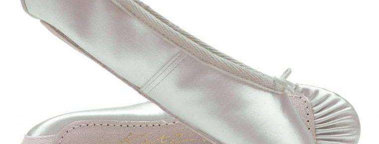 Katz Adults White Satin Full Sole Ballet ShoesStyle Code CA-7RPWHSS/A-7RPWHSS