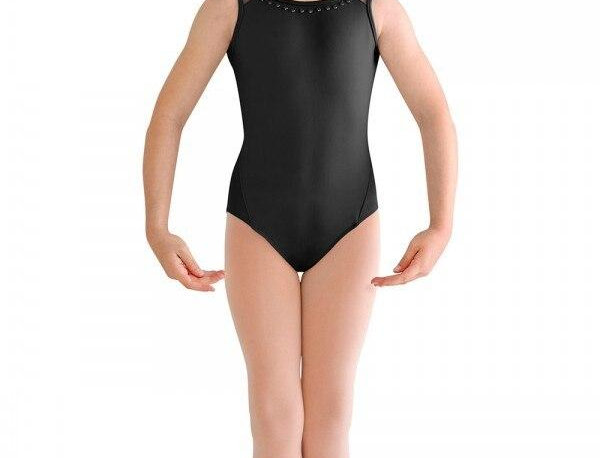 Bloch Childrens Pearl Neck/ Scallop Back Mesh  Leotard Style Code CL8875