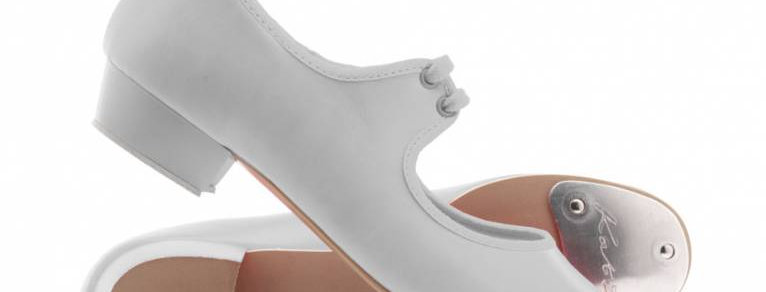 Katz Childrens White Low Heel Tap Shoe   Style Code C-8RPVC