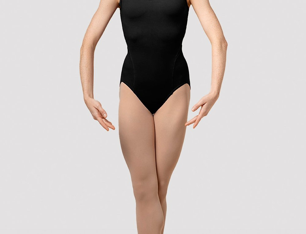 Mirella Ladies  Splice Camisole Leotard Style Code M4042LM Black