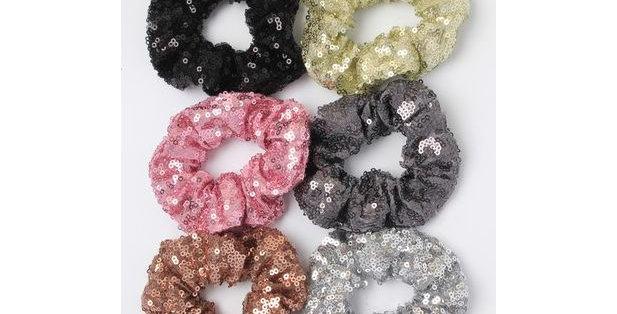 Inca Hair Accessories Medium Sequin Scrunchie Style Code 7581