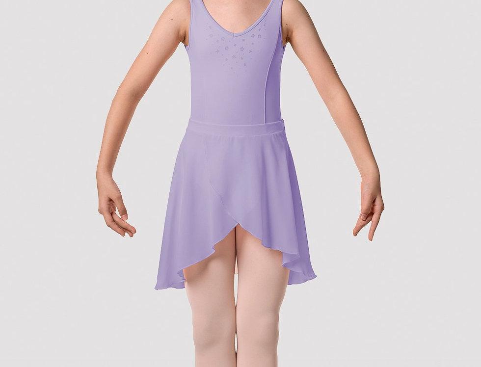 Mirella Girls Flower Burst Hi-Lo Fixed Wrap Skirt Style Code MS144C Lilac