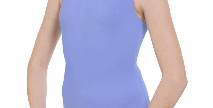 Tappers and Pointers Cot/1 Plain Fronted Leotard  Style Code Cot/1 Sky Blue